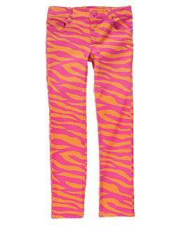 Zebra Stripe Skinny Jeans