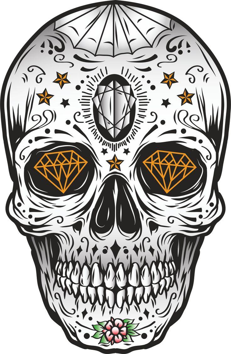 Pin by Obat Gatel N-Design on Tengkorak | Skull print ...