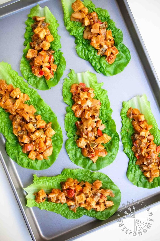 Tofu Peanut Lettuce Wraps (vegan, gluten-free) - All it takes is ONE pot and 25-MINUTES to whip up these healthy quick Tofu Peanut Lettuce Wraps! The perfect weeknight meal instead of ordering take-out! | Vegetarian Gastronomy