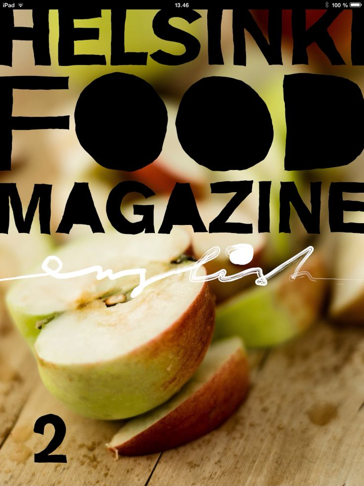 Helsinki Food Magazine - new issue is out now! You can find it in the Apple Newsstand for iPad. #helsinkifoodmagazine #helsinkifoodcompany