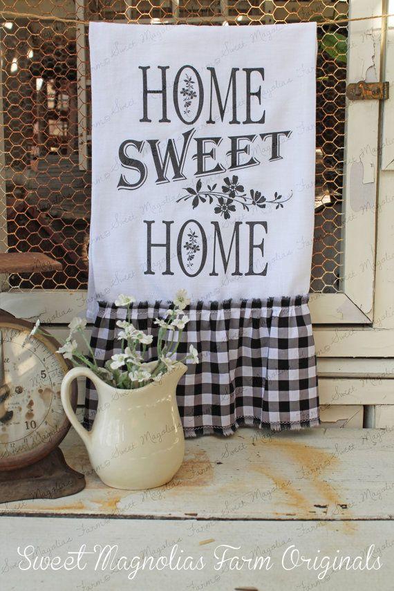 Flour Sack Kitchen Towel... Farmhouse by SweetMagnoliasFarm, $16.50  New Design