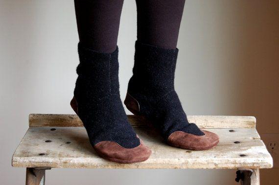 Cashmere & lana pantofola calze per donne e uomini, Eco Friendly, uomini taglia 12, cucù on Etsy, 70,82€