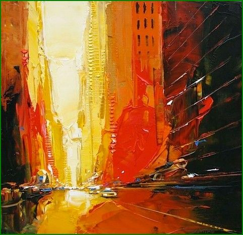 Daniel Castan: Warm Colors, Art Blog, Cities, Art Inspiration, Danielcastan, Illustration, Daniel Castan, Colors Palettes, Acrylics Paintings