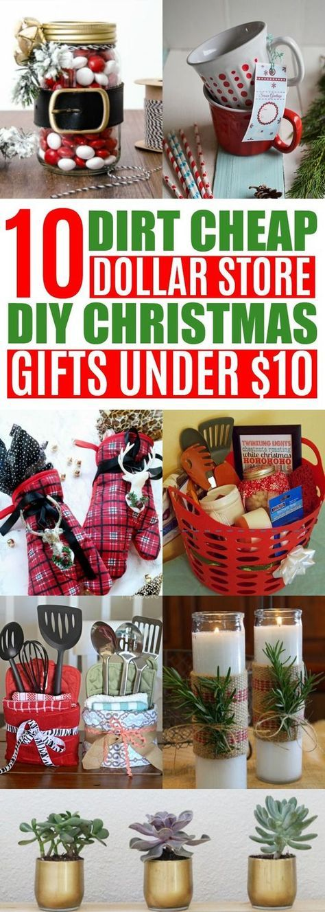 These DIY cheap Christmas gifts from the Dollar Tree are so EASY! So happy I found these inexpensive Holiday gift ideas from the Dollar Store! Now I can stay on budget and make homemade gifts for friends & family! Definitely pinning!