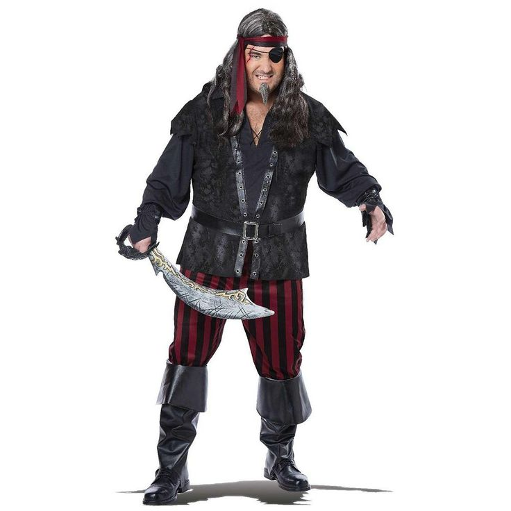 Plus Size Ruthless Rogue Costume - Adult Plus, Men's, Black
