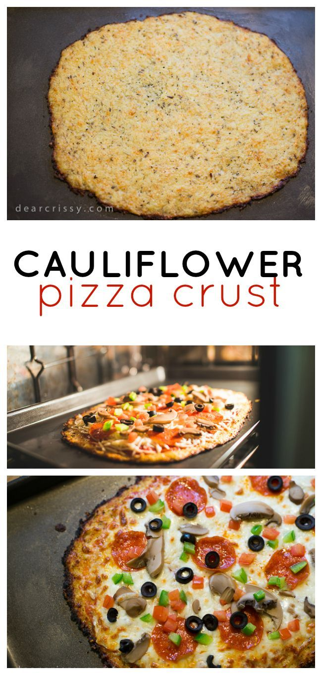 Cauliflower Pizza Crust Recipe - This delicious, healthy, gluten-free cauliflower pizza crust recipe is easy to make and so much healthier than regular pizza dough.
