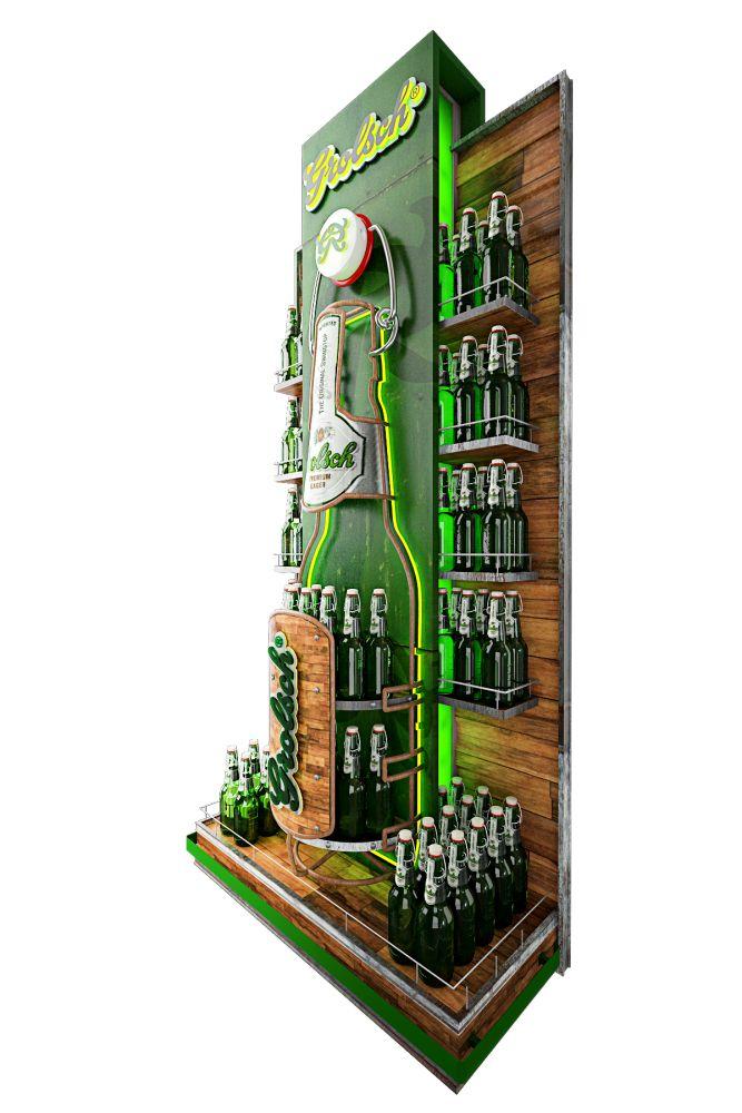Material POP - Grolsh by Julián Benavides at Coroflot.com #beer #alcohol #merchandising