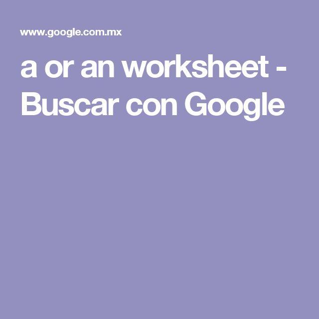 a or an worksheet - Buscar con Google