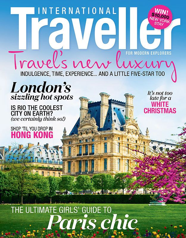 Issue 14 of International Traveller magazine, featuring the ultimate girls' guide to Paris.