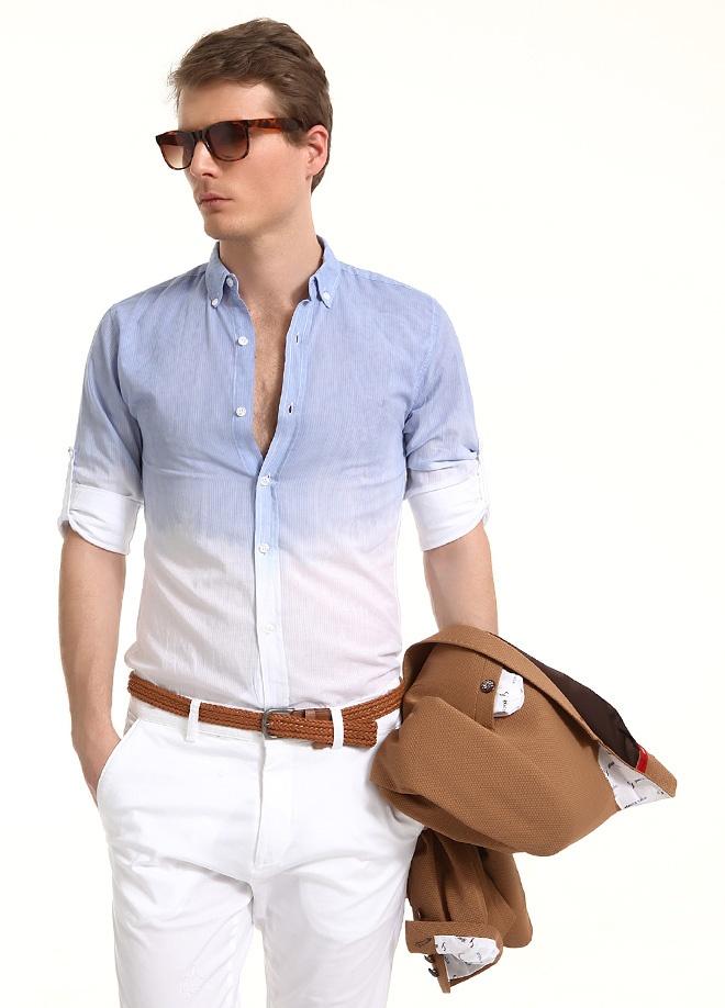 Sateen Men Boyalı gömlek Markafonide 79,90 TL yerine 39,99 TL! Satın almak için: http://www.markafoni.com/product/3797869/