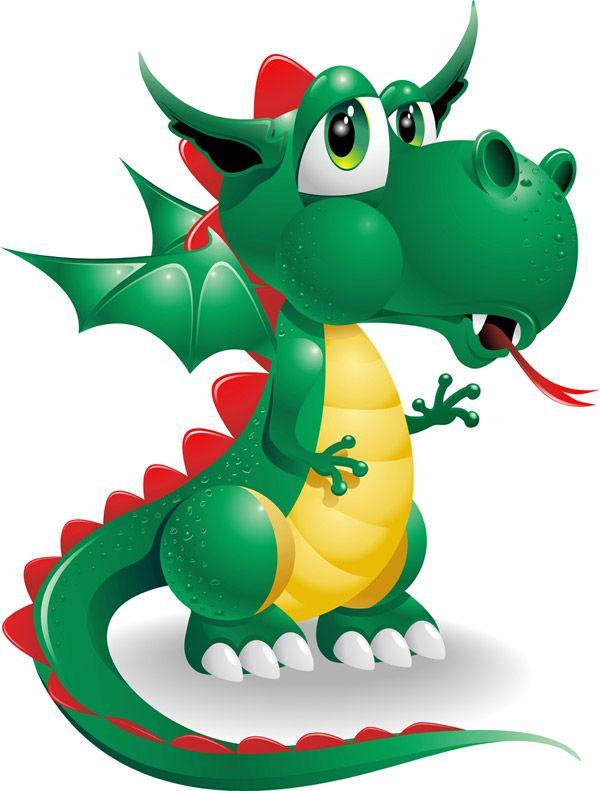Baby Dragon cartoon image of vector graphics