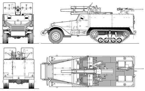 T-19 105mm Gun Motor Carriage