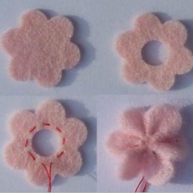 Flores em feltro! #flores #flower #feltro #felt #vilt #pap #tutorial #passoapasso #aetesanato #craft #handmade