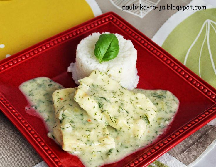 Smak mojej kuchni...: Ryba w sosie śmietanowo - koperkowym