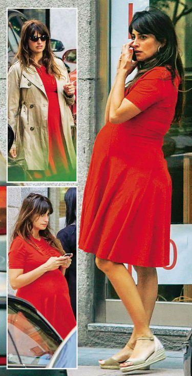 Embarazadísima y con espadrilles! Penélope Cruz (Foto de la revista HOLA)