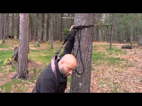 Tree Stand Harness Safety Line Set Up