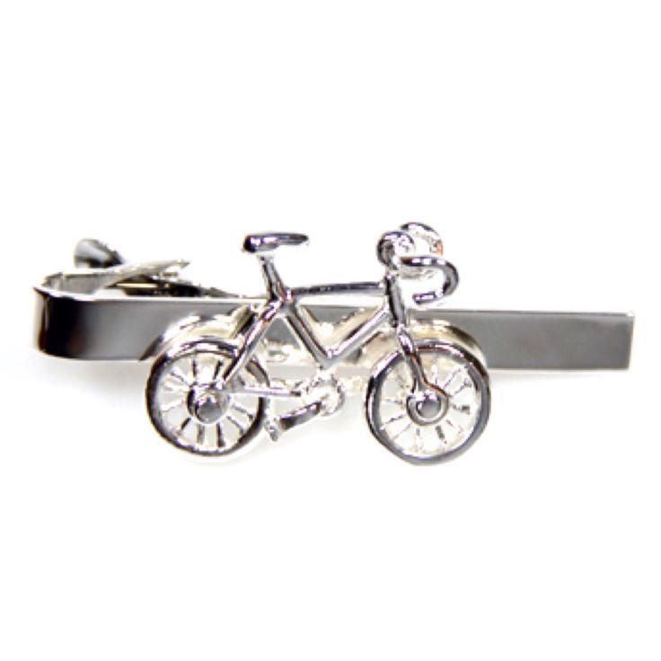 Sterling Silver Bicycle Tie Bar