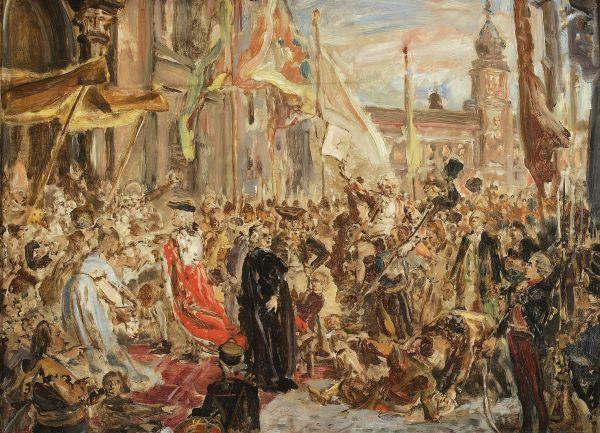Szkic do obrazu Konstytucja 3-Maja - Jan Matejko