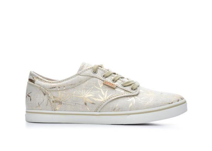Women's Vans Atwood Low Textile Gold Palm Print | Shoe Carnival