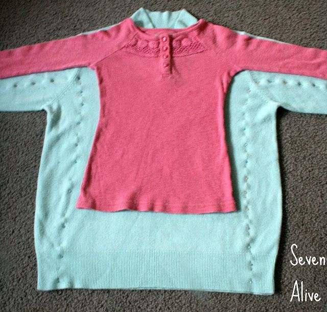 Woman's sweater to little girls sweater dress