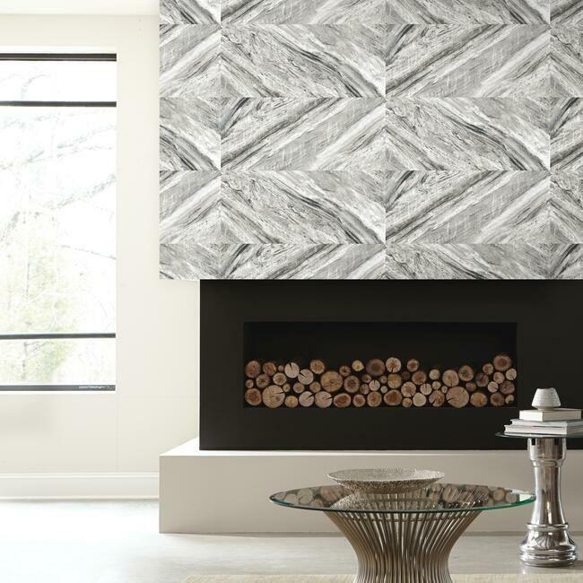 Carrara Horizontal Premium Peel And Stick Wallpaper Peel And Stick Wallpaper Wall Coverings Room Visualizer