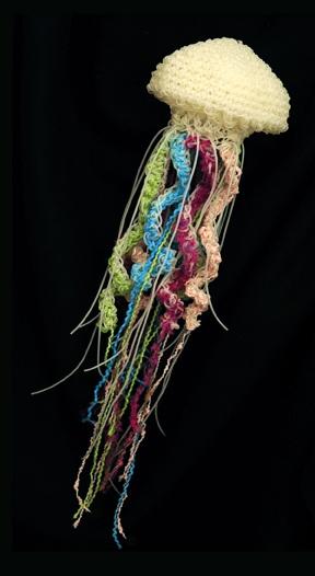 Freeform Crochet Jelly Jellyfish by Kathleen Greco of Jelly Yarn - amazing work of art!