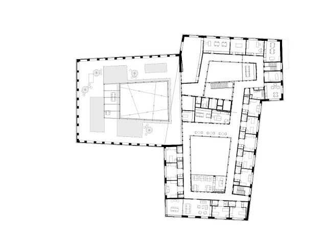 atelier kuzemenský & synek: Věšení po číslech - HUGGENBERGEFRIES ARCHITEKTEN