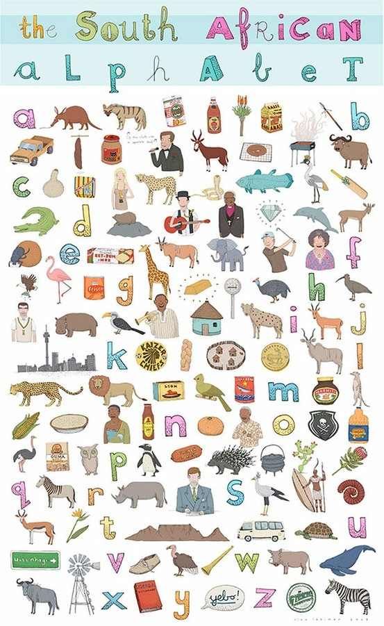 the South African Alphabet by Alex Latimer