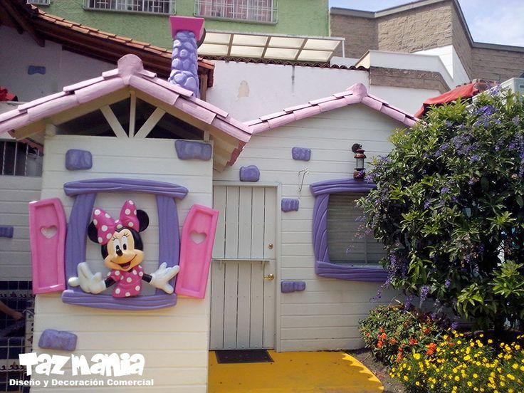 Decoracin Estilo Toon Town Disney Fachada Interna Colegio