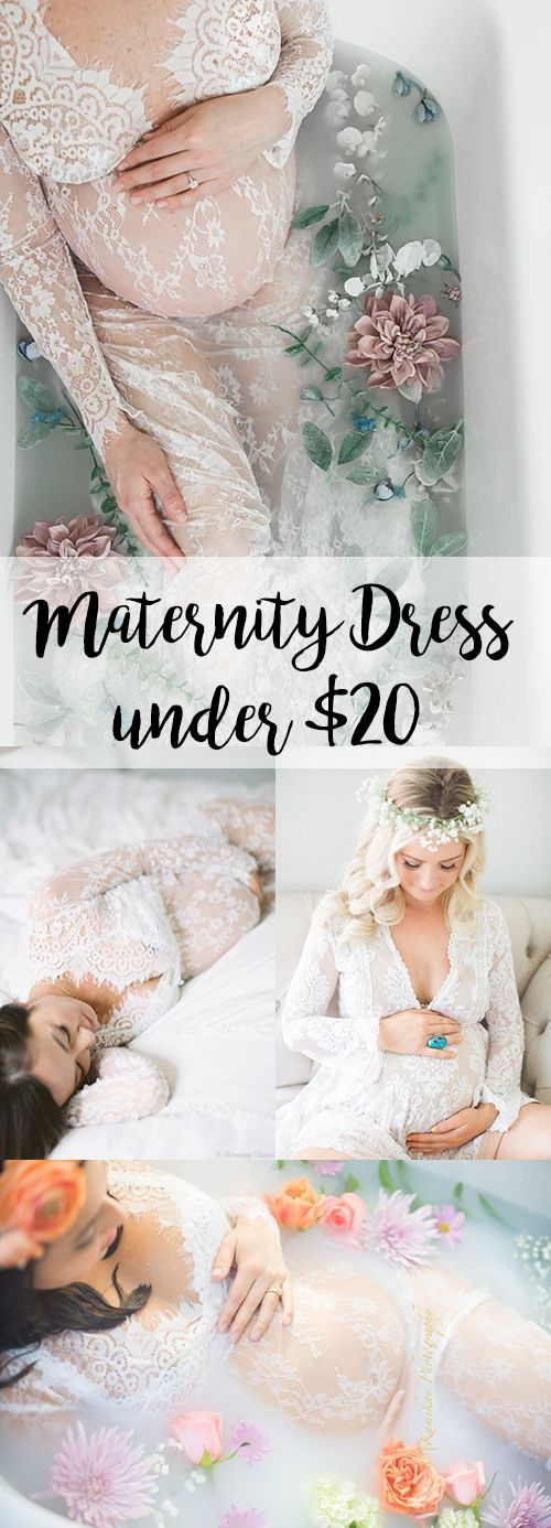 Popular Maternity Lace Dress for Photoshoot