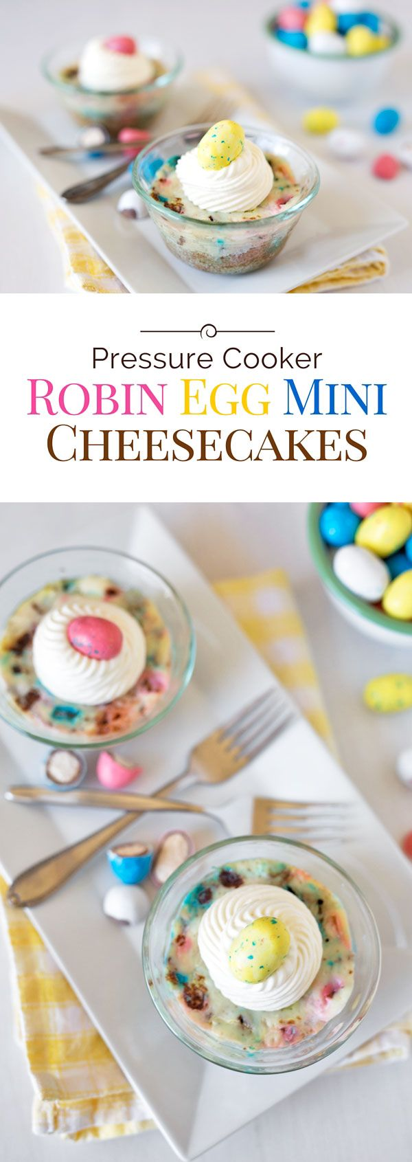 525 best holiday creative easter ideas images on pinterest these pressure cooker robin egg mini cheesecakes are a rich creamy new york style cheesecake negle Gallery