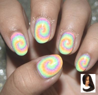 Krawatten-Regenbogen – rainbow-nails