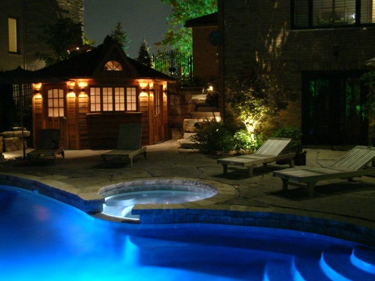 ingenious landscape lighting around pool. Exterior Captivating Outdoor Lighting Ideas For Awesome Pool  pictures photos images 98 best on Pinterest Chandelier