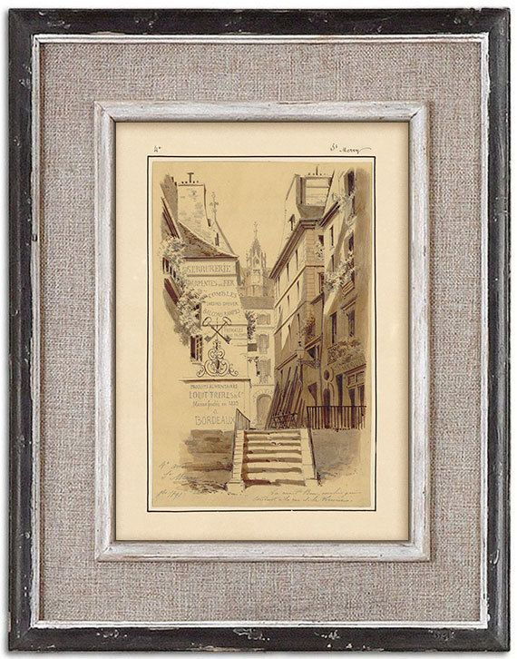 Rare detailed print of old Paris No.3 by J.A. by RoyalArtPrints