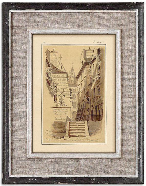 Rare detailed print of old Paris No.3 by J.A. by RoyalArtPrints