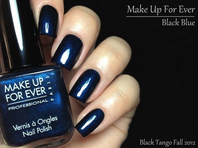 Fashion Polish: Make Up For Ever Fall 2012 Black Tango Collection! ~~ Black Blue