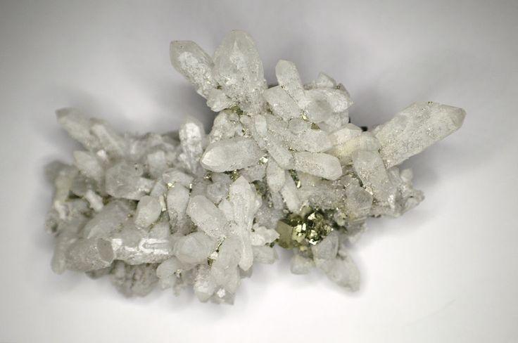 Quartz, on Matrix of ,Pyrite Cubes, 300 grams, 12cm - Up to $120 OFF! LTO