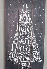 Tekstbord MERRY CHRISTMAS
