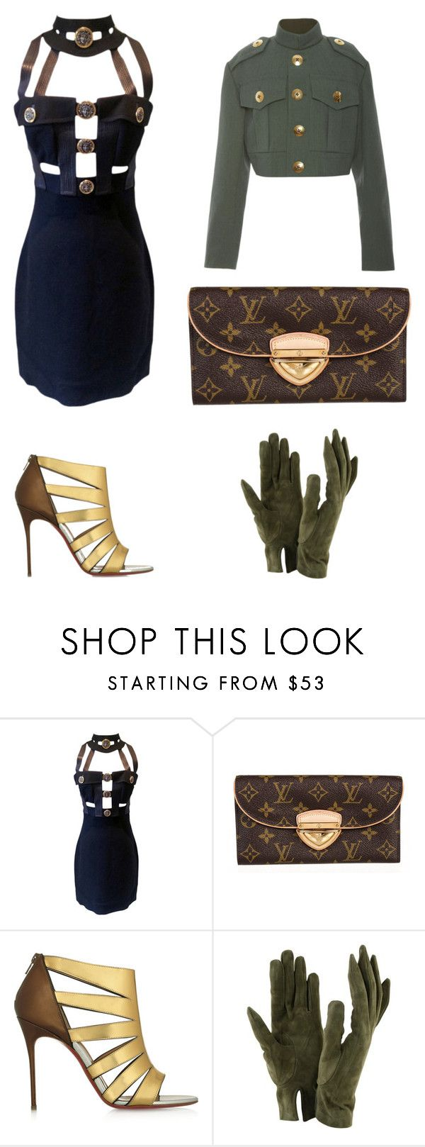 60 Second Style: NYFW After Party by adriana-claudia on Polyvore featuring Versace, Marc Jacobs, Christian Louboutin, Louis Vuitton, Sermoneta and nyfwafterparty