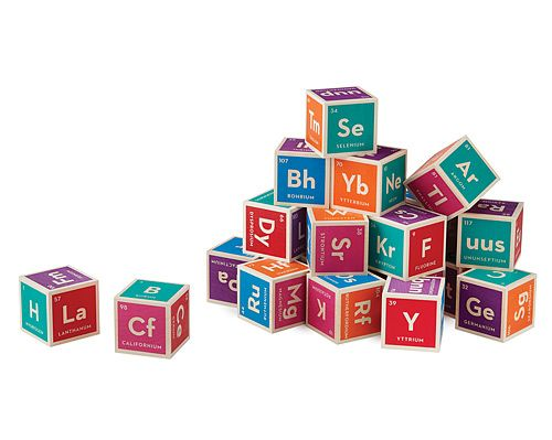 Periodic Table Building Blocks. Great for kids to learn chemistry without realizing it!