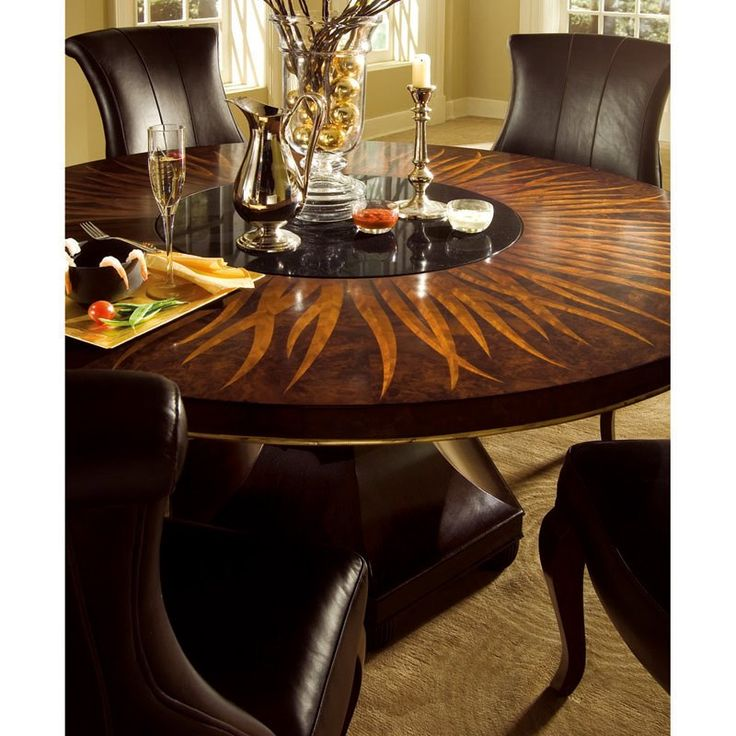 60 Inch Round Dining Table With Lazy Susan Design Ideas