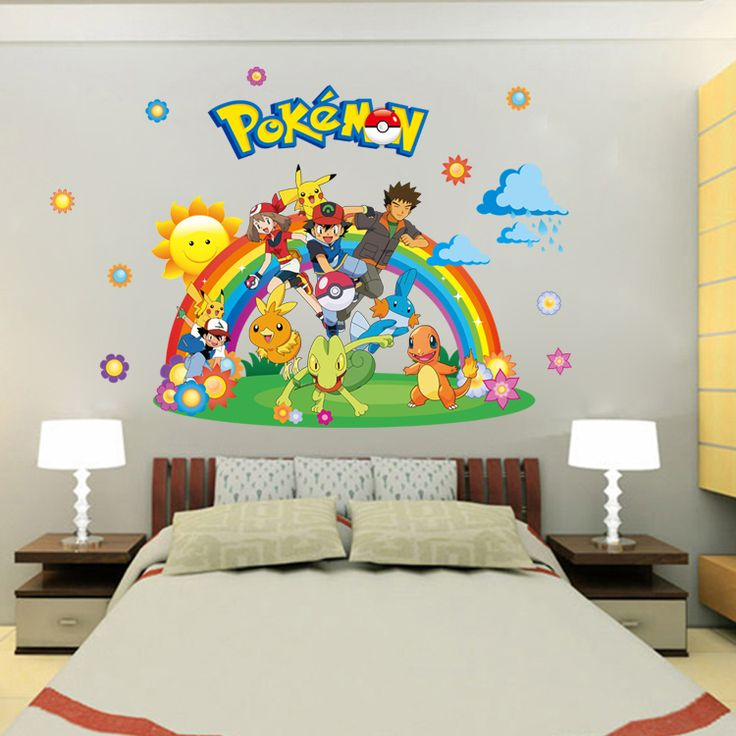 3037 Hot Sale Pokemon Wall Stickers For Kids Room Wall Decoration Bedroom  Living Room Children Girls