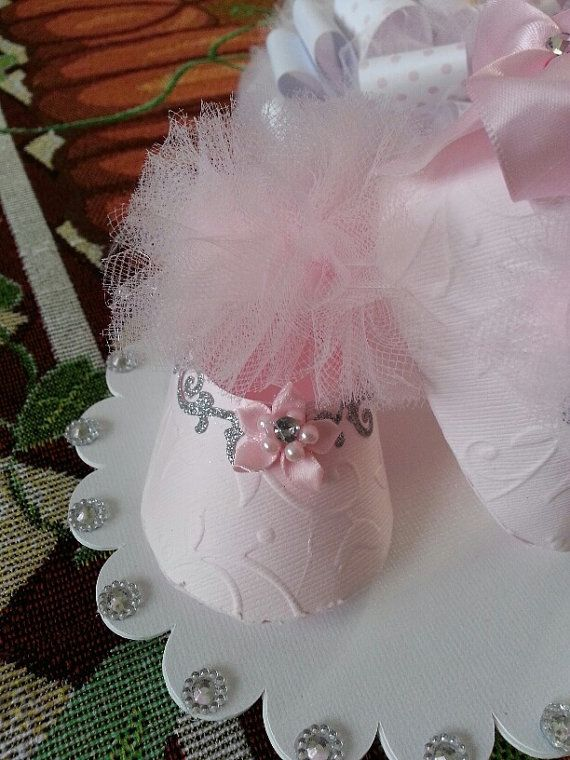 Rosa TuTu calzado Topper de la torta / pastel de cumpleaños /
