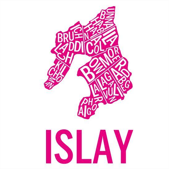 Islay i färgen rosa