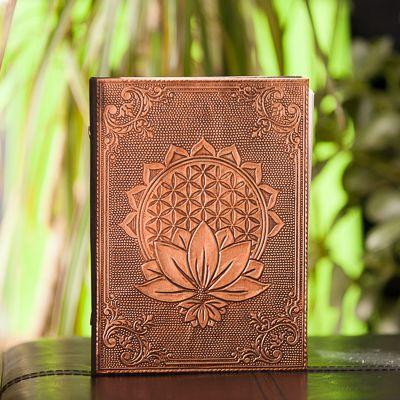 Bronze Journal - Flower of Life - 5x7