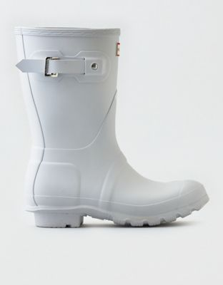 Hunter Original Short Rain Boot  by  American Eagle Outfitters | Renowned for its iconic boot, Hunter has been creating footwear to protect from weather and perform across all terrains since 1956.  Renowned for its iconic boot, Hunter has been creating footwear to protect from weather and perform across all terrains since 1956.   Shop the Hunter Original Short Rain Boot  and check out more at AE.com.