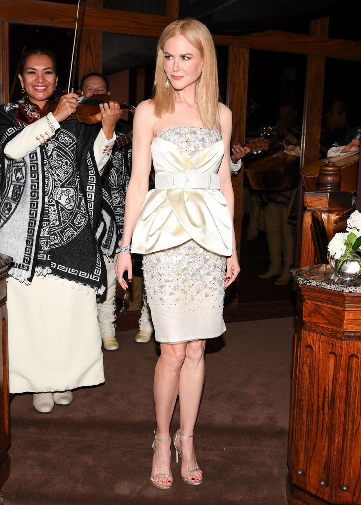 Nicole Kidman in Chanel Couture at the 2017 Charles Finch and Chanel Pre-Oscar Awards Dinner in Beverly Hills.