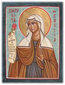 icona di Santa Rita da Cascia (per mano di Cristina Capella)