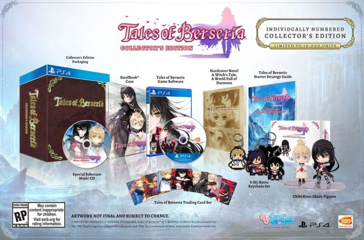 Tales of Berseria coming January 24 Collectors Edition announced   Get ready to add another JRPG to your calendars as Bandai Namco Entertainment revealed that it will be releasing Tales of Berseria in North America on January 24th and in Europe on January 27th for the PlayStation 4 and PC.  Bandai Namco Entertainment also announced it will be releasing a Collectors Edition in North America for the PlayStation 4 which will retail for $149.99 and include an exclusive Tales of Berseria…
