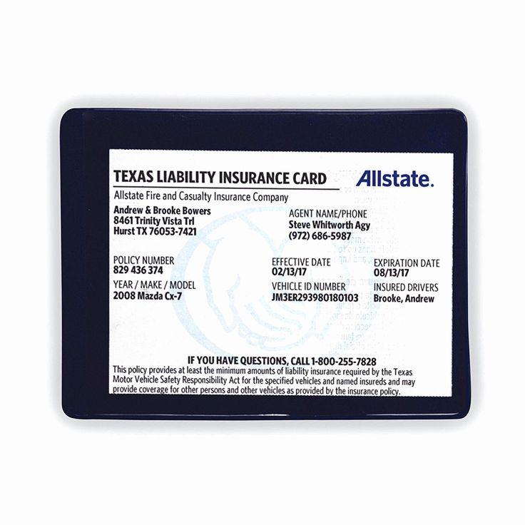 Auto Insurance Card Template Unique Allstate Auto ...